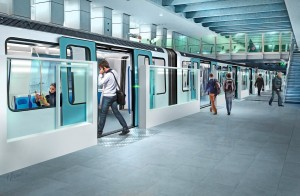 Artists impression of Marseille's future renovated metro