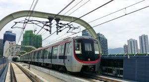 SIL train on viaduct (MTR)