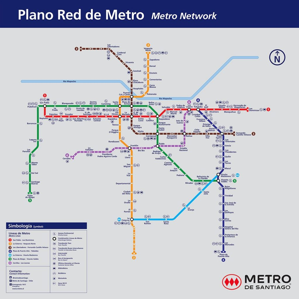 Subway Map In Chile.First Uto Line Opens In Santiago De Chile Automated Metros Observatory